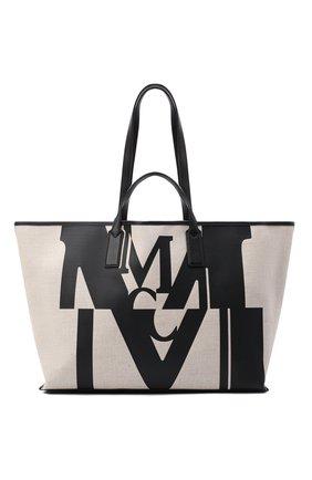 Женский сумка-шопер glitch medium MCM черного цвета, арт. MWP AAMH01 | Фото 1