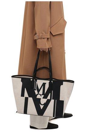 Женский сумка-шопер glitch medium MCM черного цвета, арт. MWP AAMH01 | Фото 2