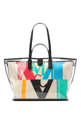 Женский сумка-шопер glitch medium MCM разноцветного цвета, арт. MWP AAMH03 | Фото 1