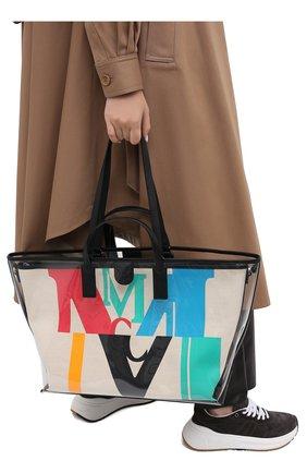 Женский сумка-шопер glitch medium MCM разноцветного цвета, арт. MWP AAMH03 | Фото 2
