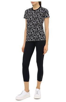 Женская хлопковая футболка MONCLER черно-белого цвета, арт. F2-093-8C732-00-829HX | Фото 2