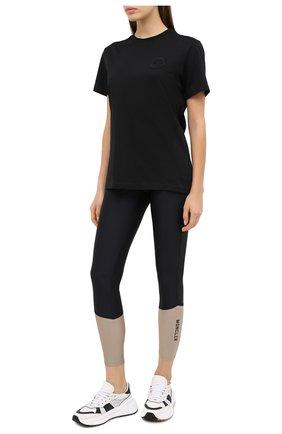 Женская хлопковая футболка MONCLER черного цвета, арт. F2-093-8C759-00-V8161 | Фото 2