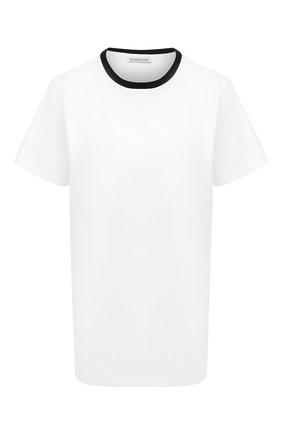 Женская хлопковая футболка MONCLER белого цвета, арт. F2-093-8C778-10-V8161 | Фото 1