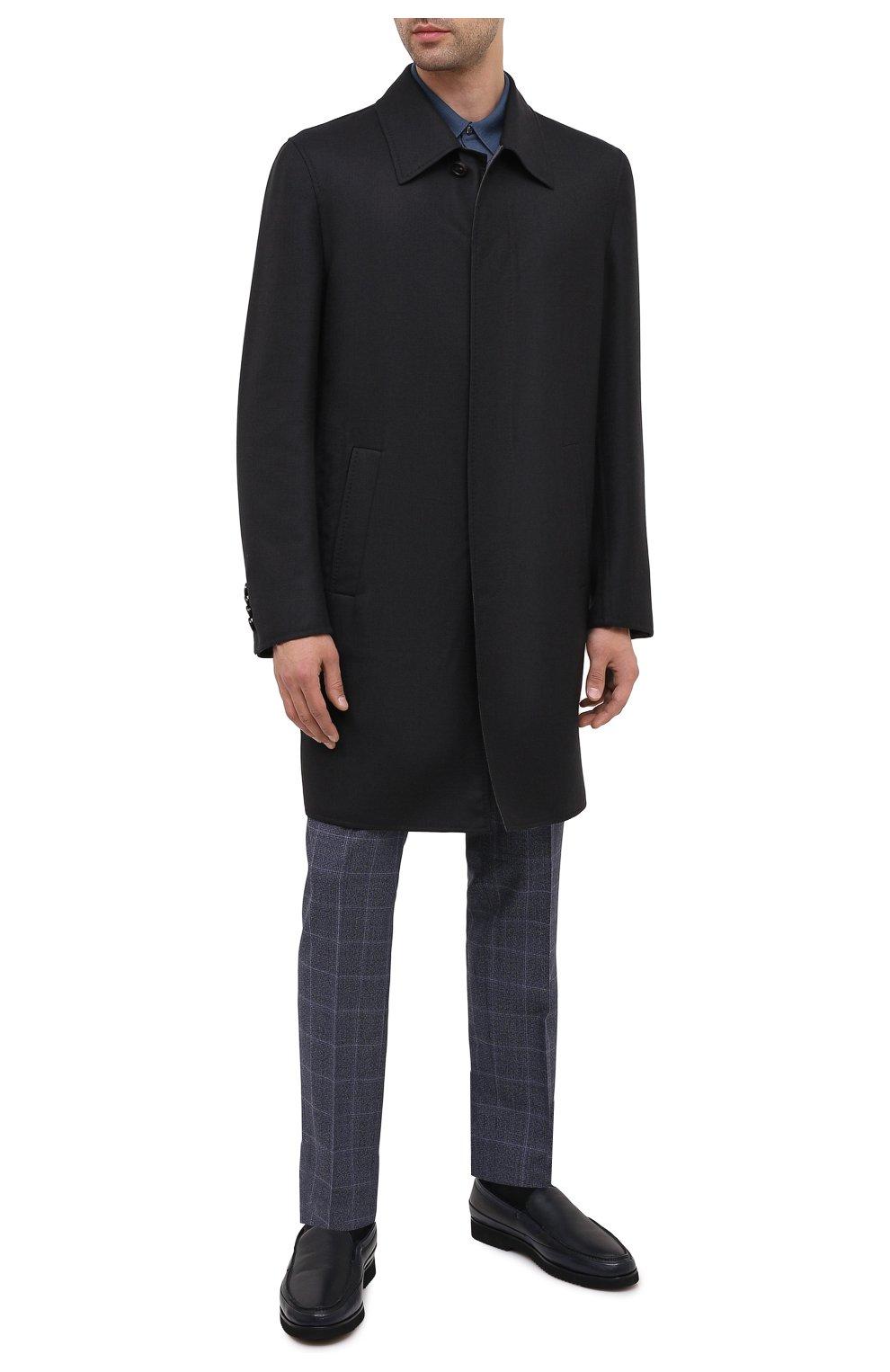 Мужские кожаные лоферы ALDO BRUE темно-синего цвета, арт. AB8108.NMD.S.A99G | Фото 2