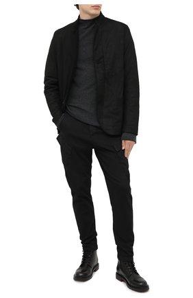 Мужской шерстяной джемпер TRANSIT темно-серого цвета, арт. CFUTRM12471   Фото 2