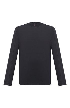 Мужская хлопковый лонгслив TRANSIT темно-серого цвета, арт. CFUTRM1360   Фото 1
