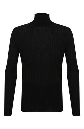 Мужской шерстяная водолазка TRANSIT черного цвета, арт. CFUTRM15501   Фото 1