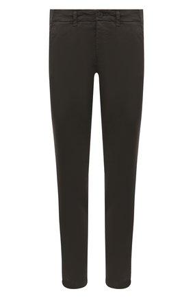 Мужские хлопковые брюки TRANSIT хаки цвета, арт. CFUTRMA100   Фото 1
