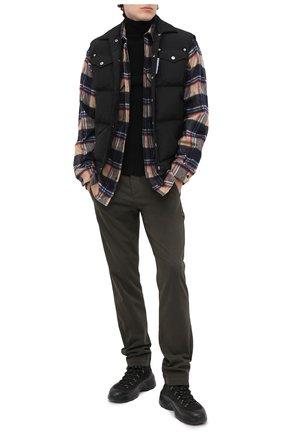 Мужские хлопковые брюки TRANSIT хаки цвета, арт. CFUTRMA100   Фото 2