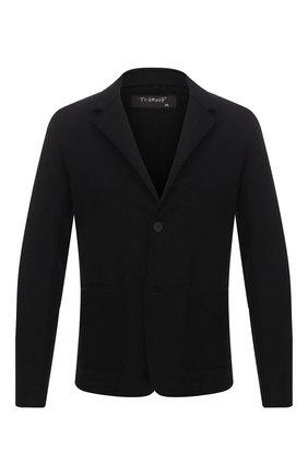 Мужской шерстяной пиджак TRANSIT черного цвета, арт. CFUTRMK202 | Фото 1