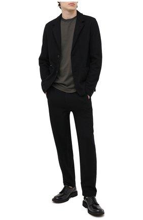 Мужской шерстяной пиджак TRANSIT черного цвета, арт. CFUTRMK202 | Фото 2