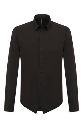 Мужская хлопковая рубашка TRANSIT черного цвета, арт. CFUTRMV310   Фото 1