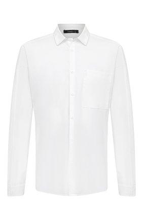 Мужская хлопковая рубашка TRANSIT белого цвета, арт. CFUTRMV312   Фото 1
