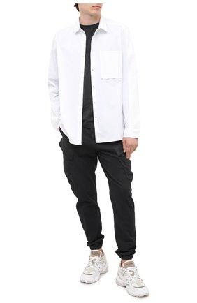 Мужская хлопковая рубашка TRANSIT белого цвета, арт. CFUTRMV312   Фото 2