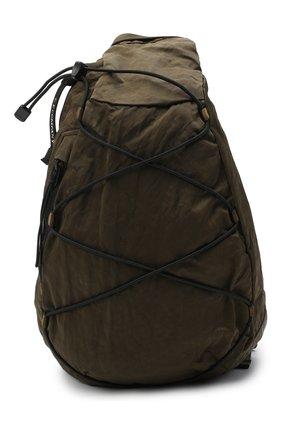 Мужская текстильная поясная сумка C.P. COMPANY хаки цвета, арт. 09CMAC107A-005269G | Фото 1