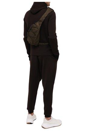 Мужская текстильная поясная сумка C.P. COMPANY хаки цвета, арт. 09CMAC107A-005269G | Фото 2
