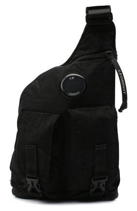 Мужская текстильная поясная сумка C.P. COMPANY черного цвета, арт. 09CMAC107A-005269G | Фото 1
