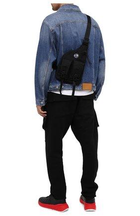 Мужская текстильная поясная сумка C.P. COMPANY черного цвета, арт. 09CMAC107A-005269G | Фото 2