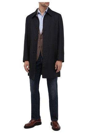 Мужская шелковая рубашка LORO PIANA голубого цвета, арт. FAL3183 | Фото 2