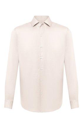 Мужская шелковая рубашка LORO PIANA бежевого цвета, арт. FAL3183 | Фото 1