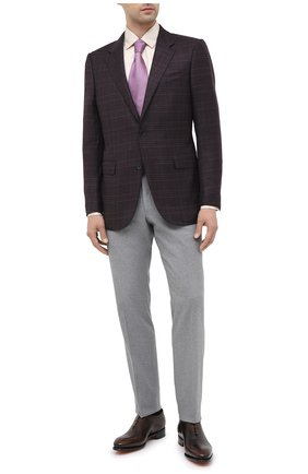 Мужская шелковая рубашка LORO PIANA бежевого цвета, арт. FAL3183 | Фото 2