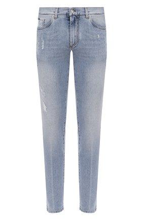Мужские джинсы DOLCE & GABBANA голубого цвета, арт. GY07CD/G8CT4 | Фото 1