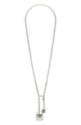 Мужского цепь с кулоном ALEXANDER MCQUEEN серебряного цвета, арт. 576893/J160K | Фото 1
