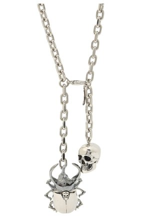 Мужского цепь с кулоном ALEXANDER MCQUEEN серебряного цвета, арт. 576893/J160K | Фото 2