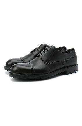 Мужской кожаные дерби MORESCHI черного цвета, арт. 43560/SD/B0RG0GNA/F.NAPPA | Фото 1