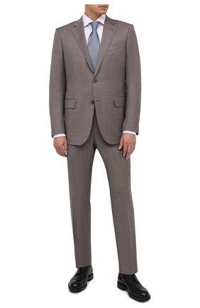 Мужской кожаные дерби MORESCHI черного цвета, арт. 43560/SD/B0RG0GNA/F.NAPPA | Фото 2