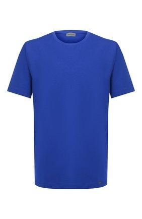 Мужские хлопковая футболка HANRO синего цвета, арт. 075050   Фото 1
