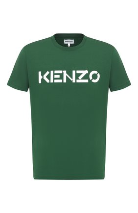 Мужская хлопковая футболка KENZO зеленого цвета, арт. FA65TS0004SJ   Фото 1