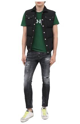 Мужская хлопковая футболка KENZO зеленого цвета, арт. FA65TS0004SJ   Фото 2