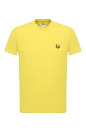 Мужская хлопковая футболка KENZO желтого цвета, арт. FA65TS0034SJ | Фото 1