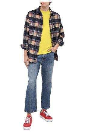 Мужская хлопковая футболка KENZO желтого цвета, арт. FA65TS0034SJ | Фото 2