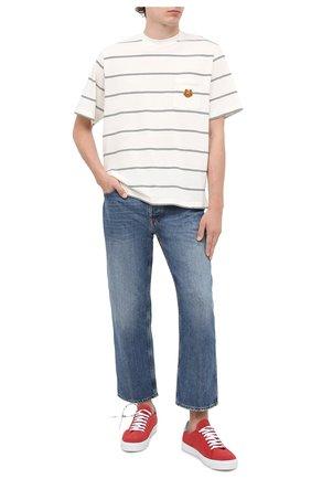 Мужская хлопковая футболка KENZO кремвого цвета, арт. FA65TS5204S0   Фото 2