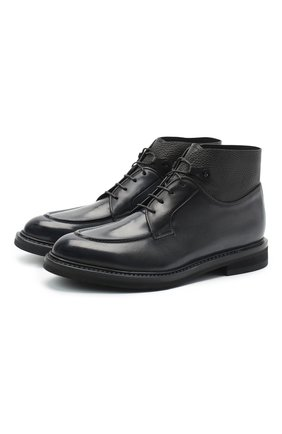 Мужские кожаные ботинки BARRETT темно-серого цвета, арт. 192U026.11/BETIS CREAM | Фото 1