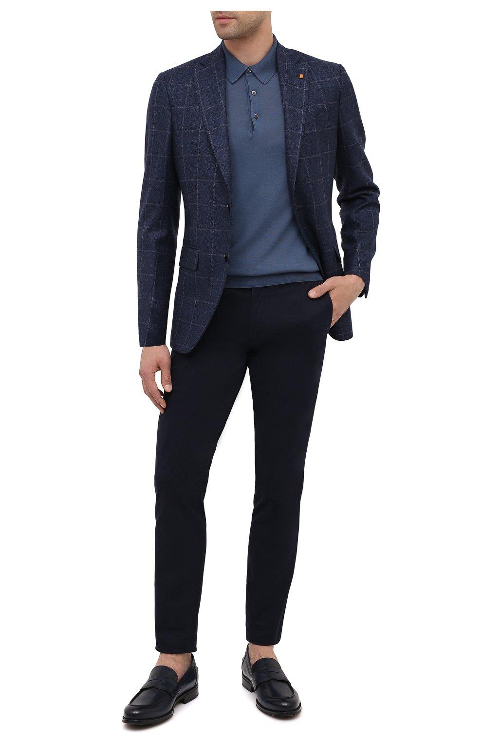 Мужские кожаные пенни-лоферы BARRETT темно-синего цвета, арт. 202U041.6/NEW B0X   Фото 2
