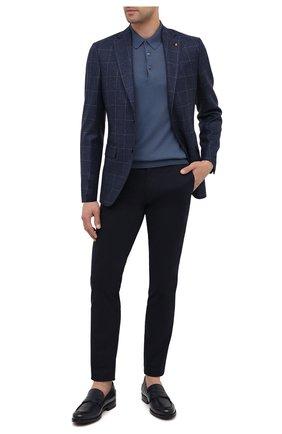 Мужские кожаные пенни-лоферы BARRETT темно-синего цвета, арт. 202U041.6/NEW B0X | Фото 2