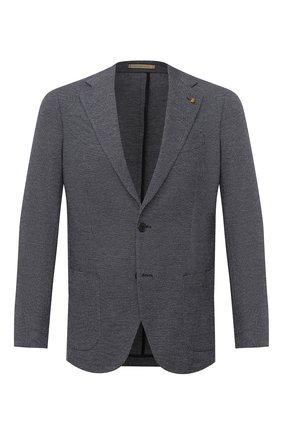 Мужской пиджак из шерсти и хлопка SARTORIA LATORRE темно-синего цвета, арт. JEF74 JA3266 | Фото 1