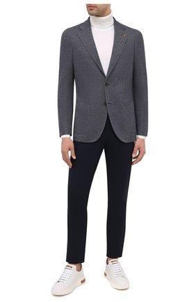 Мужской пиджак из шерсти и хлопка SARTORIA LATORRE темно-синего цвета, арт. JEF74 JA3266 | Фото 2