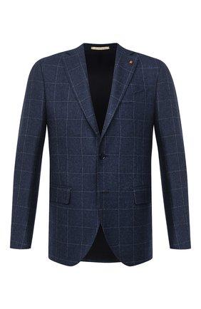Мужской шерстяной пиджак SARTORIA LATORRE голубого цвета, арт. G0I7EF Q80624 | Фото 1