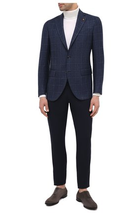Мужской шерстяной пиджак SARTORIA LATORRE голубого цвета, арт. G0I7EF Q80624 | Фото 2
