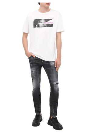 Мужская хлопковая футболка COMME DES FUCKDOWN белого цвета, арт. CDFU1077 | Фото 2