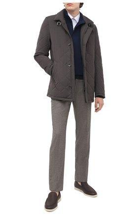 Мужская утепленная куртка GIMO'S темно-коричневого цвета, арт. 20AI.U.290.624 | Фото 2