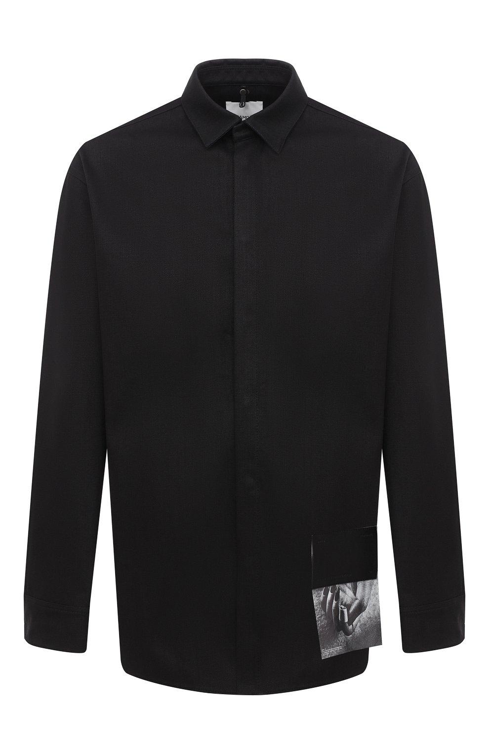 Мужская хлопковая рубашка OAMC черного цвета, арт. 0AMR603386 0R241900 | Фото 1