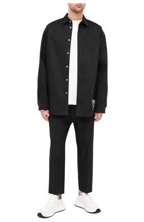 Мужская хлопковая рубашка OAMC черного цвета, арт. 0AMR603386 0R241900 | Фото 2