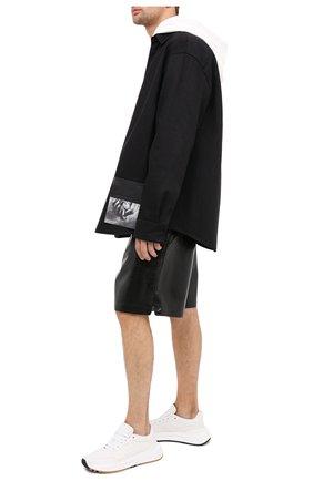 Мужская хлопковая рубашка OAMC черного цвета, арт. 0AMR603386 0R241900 | Фото 3