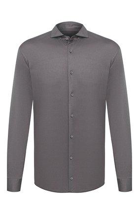 Мужская хлопковая рубашка VAN LAACK темно-серого цвета, арт. M-PER-L/180031 | Фото 1