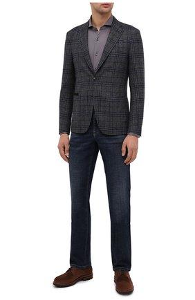Мужская хлопковая рубашка VAN LAACK темно-серого цвета, арт. M-PER-L/180031 | Фото 2